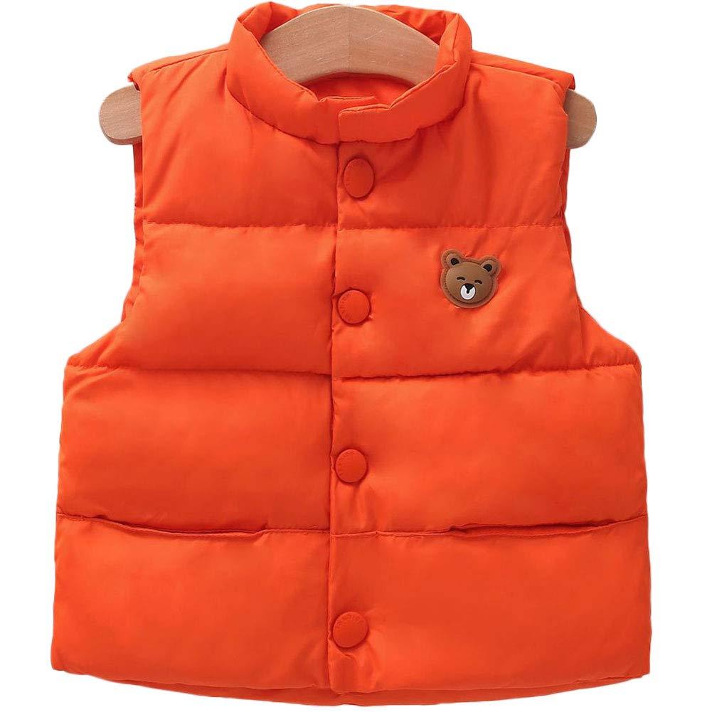 LANBAOSI Baby Girls/&Boys Winter Cute High Neck Vest Lightweight Puffer Sleeveless Jacket 18K229