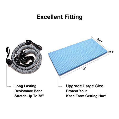 3 In 1 AB Wheel Roller Kit Odoland AB Roller Pro with Resistant Band,Knee Pad,Anti Slip Handles and Storage Bag Perfect Abdominal Core Carver Fitness Workout for Abs
