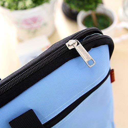 nero Lvcky A4 file documento organizzatore di maniglia messenger borsa ventiquattrore in tela con cerniera per uomo e donna