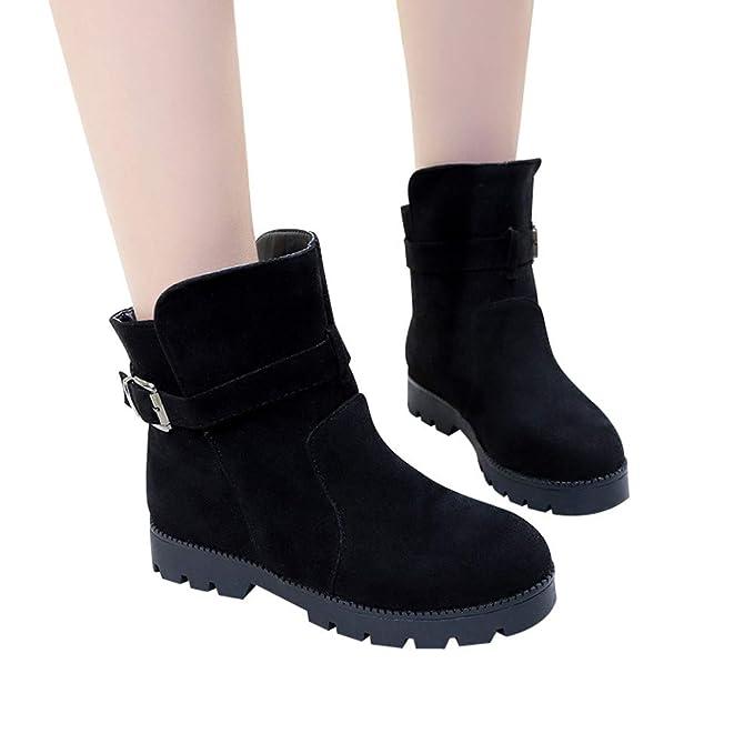 MYMYG Botas de Nieve para Mujer Zapatos Mujer Otoño Invierno Black Friday Botas de Nieve Mujer Botines de Mujer Zapatos de Nieve cálida Botas de Plataforma: ...
