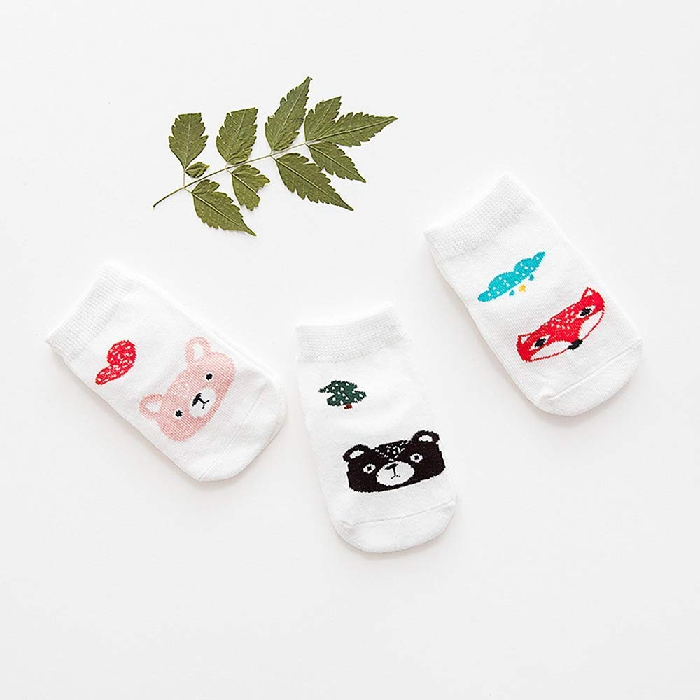Ages 12-24 months Grippy Socks 3 pack Bears /& Foxes