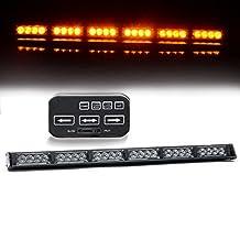 "TURBOSII 24 LED 25.5"" Traffic Advisor Emergency Warning Directional Light Bar Kit Vehicle Strobe Flash Mini Interior LED Dash Light Bar,YELLOW"