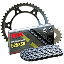RK Racing Chain 2068-980W Steel Rear Sprocket and 525XSO Chain 20,000 Mile Warranty Kit