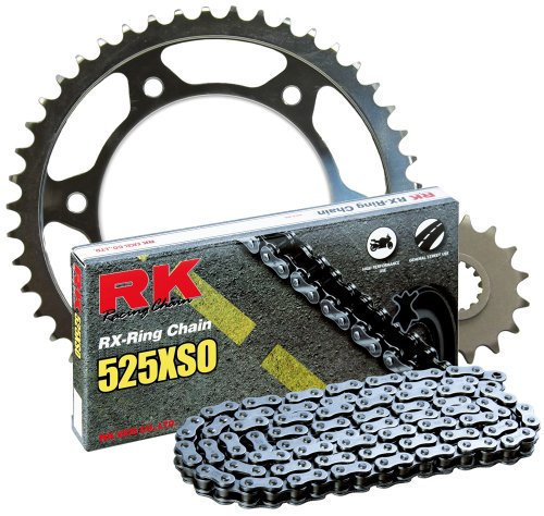 RK Racing Chain 1062-990W Steel Rear Sprocket and 525XSO Chain 20,000 Mile Warranty Kit