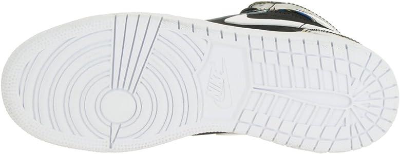 pretty nice 9a88c 771cd Nike Air Jordan 1 Retro High BHM GG Hi Top Trainers 739640 Sneakers Shoes  (Uk 4.5 Eu 37.5, Black White Voltage Green 045). Nike Air Jordan 1 Retro  High BHM ...