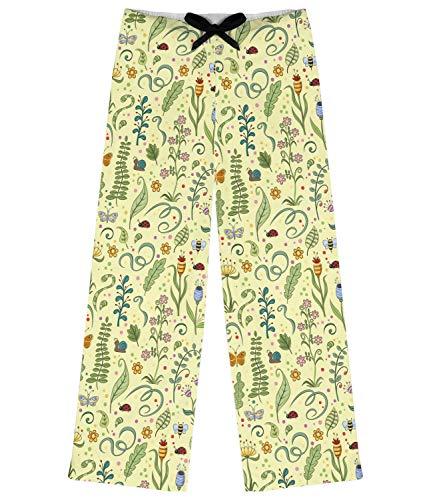 Nature Inspired Pajama Pants - M Personalized Yellow
