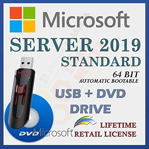 MS Server 2019 Standard Retail Sale-licentie | Met USB- en dvd-station | Met factuur | 64 Bit 16 Core | Automatische…