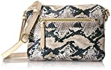 T-Shirt & Jeans Faux Snake Double Zipper Cross Body