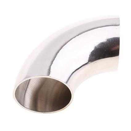 Conector Codo para Guarnición de Tubo 90 Grado de Acero Inoxidable 304 para Barco Rv - Plata 25mm