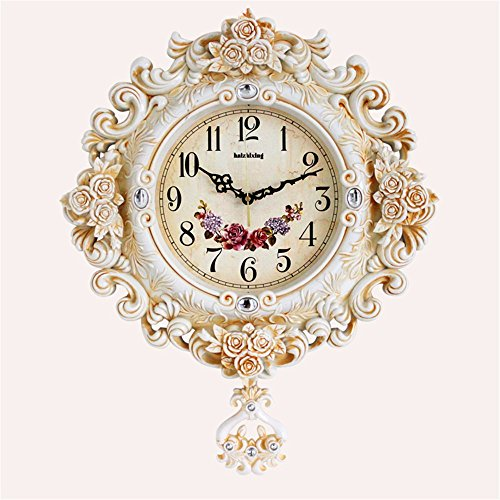 CGGHY American-Style Retro European-Style Luxury Wall Clocks
