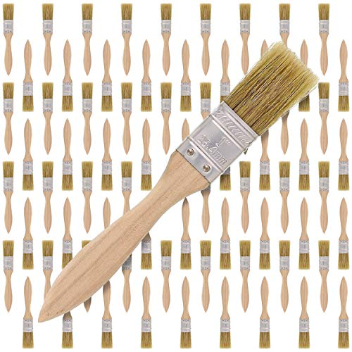 US Art Supply 72 Pack of 1 inch Paint and Chip Paint Brushes for Paint, Stains, Varnishes, Glues, and Gesso