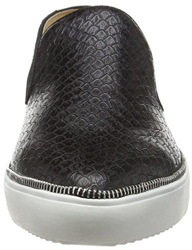schwarz La Black Donna Espadrillas Basse With Black 1501 Print Snake Loafer Nero Strada awrqax7vH