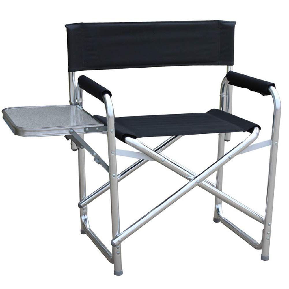 Outdoor Folding Chair Aluminum Fishing Chair Leisure Folding Stool with Coffee Table