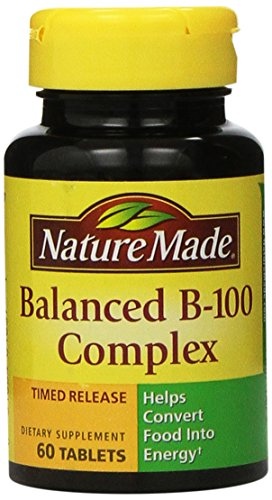 Nature Made Time-Release Balanced B-100, 60 Tablets (Pack of 2)