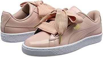 quality design 4cfdd 568fd Puma Women's Basket Heart Patent Wn S Peach Beige Leather ...