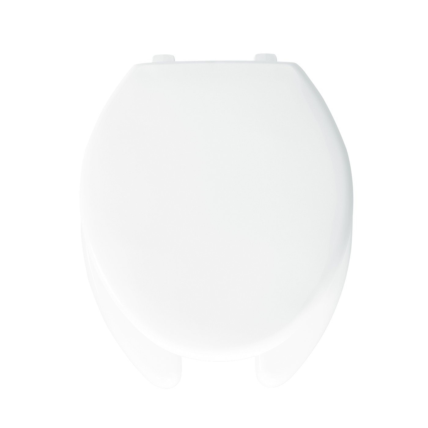 Bemis 1950000 Plastic Open Front with Cover Elongated Toilet Seat, White