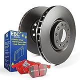 EBC Brakes S12KF1285 S12 Kits Redstuff and RK Rotors Incl. Rotors and Pads Front Rotor Dia. 11.6 in. S12 Kits Redstuff and RK Rotors