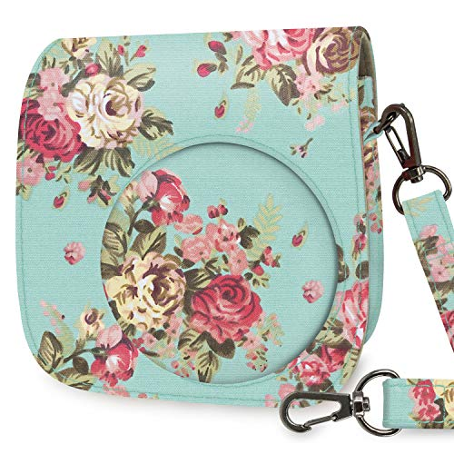 WOLVEN Protective Case Bag Purse Compatible with Mini 9 / Mini 8 / Mini 8+ Instant Camera, Vintage Rose