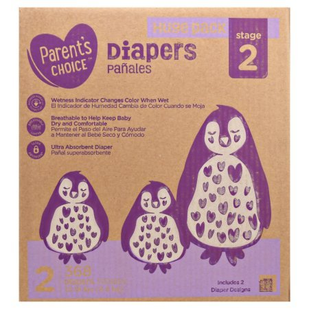 Parents Choice Ultra Absorbent Diapers, Size 2, 368 Diapers (Mega ...