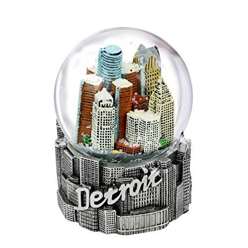 A Detroit Michigan Snow Globe - 65 MM Great Piece