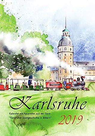 Kalender 2019 Karlsruhe Aquarelle A5 Gezeichnet Amazonde