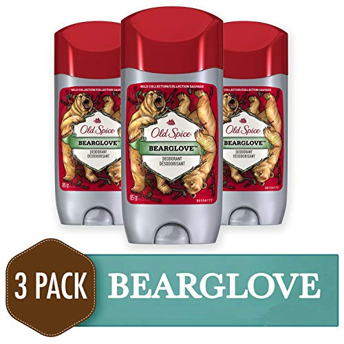 Old Spice Deodorant for Men, Bearglove Scent, Wild Collection, 3 oz, 3 Count (Best Deodorant For Female Athletes)