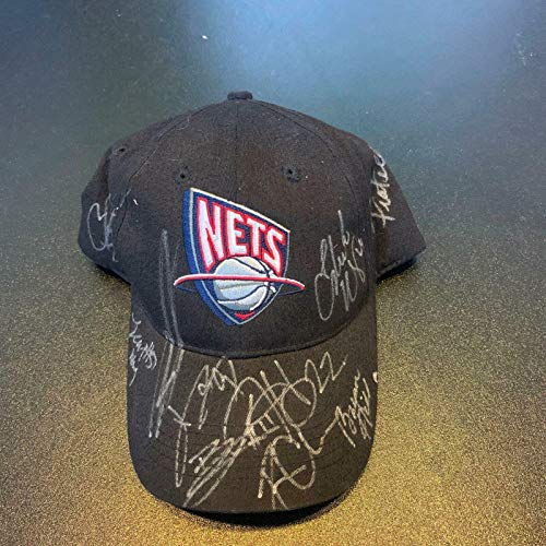 2009-2010 New Jersey Nets Team Signed Basketball Hat Cap #1 - NBA Autographed Miscellaneous Items (Team Signed Basketball)