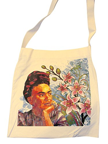 Frida Cotton Tote Market Bag Printed 16 SQ inch Folk Art Mexico Pouch Purse Mexican (Frida Kahlo Mexican Painter)