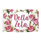 Delta Zeta Rose Pattern Letter Sorority Flag Greek Letter Use as a Banner 3 x 5 Feet Sign Decor dz Review