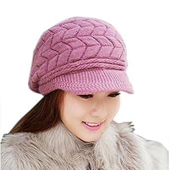 Sombreros de Invierno Boina de Pintor Retro Cálido Cálido Gorro de Punto Sombrero Salvaje Simple Octogonal Cap Gorras para Mujer Fannyfuny
