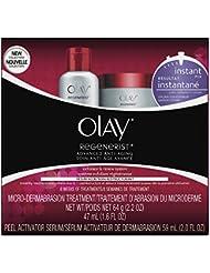 Microdermabrasion Kit by Olay Regenerist, Face Peel & Scrub for Dry Skin, Reduce Wrinkles & Fine Lines, 1 Kit