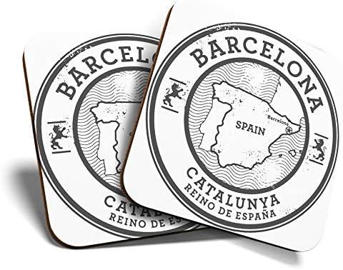 Great Coaster - Posavasos (2 unidades), diseño de mapa de Barcelona Catalunya España: Amazon.es: Hogar