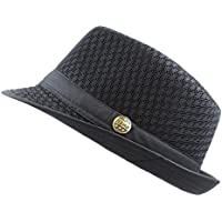 THE HAT DEPOT 200G1015 Light Weight Classic Soft Cool Mesh Fedora Hat