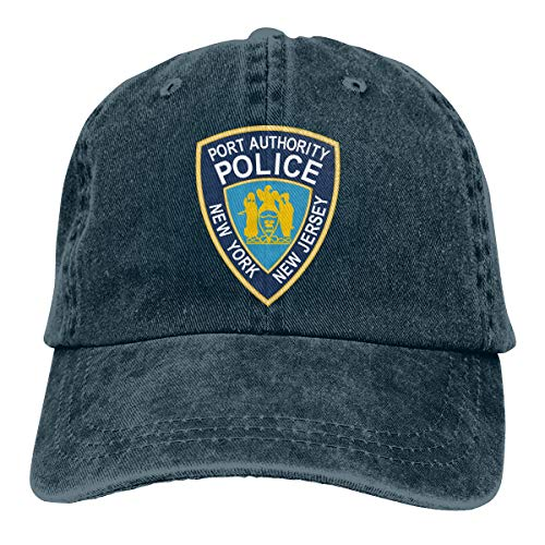 Classic Unisex New Jersey State Police Logo Cotton Jean Baseball Cap Adjustable Strap Low Profile Plain Hats. Navy