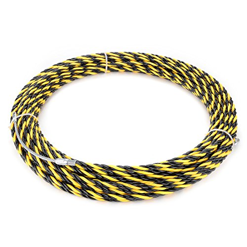 uxcell 98 Feet (30M) Polyester Fish Tape Dia 0.24in (6mm) Electrical Wire Threader Cable Running Rods Fish Tape Pulling