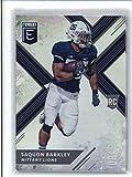 #6: 2018 Panini Elite Draft Picks #105 Saquon Barkley (Dark Jersey) Penn State Nittany Lions Football Card
