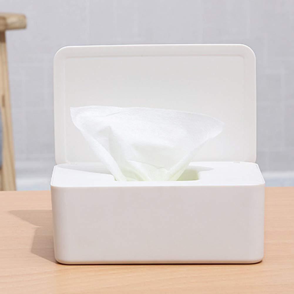 AmandaJ Baby Windeltuchspender Baby Wipes Holder Staubdicht mit Deckel h/ält Wipes frisch und rutschfest Gummif/ü/ße Wet Tissue Box