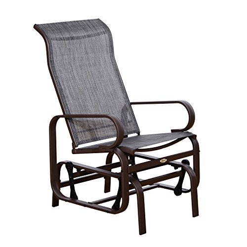 Outsunny Outdoor Fabric Gliding Chair
