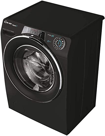 Candy Rapido RO1696DWHC7B Freestanding Washing Machine, WiFi connected, 10Kg Load, 1600rpm spin, Black [Energy Class A+++]