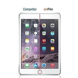 iPad 9.7 Inch / iPad Pro 9.7 Inch / iPad Air / iPad Air 2 Screen Protector Glass, amFilm Tempered Glass Screen Protector for Apple iPad Air 2, iPad Air, iPad Pro 9.7 inch, 5th Gen 2016 2017 (1-Pack)