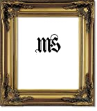 Imperial Frames 8 by 10-Inch/10 by 8-Inch Picture/Photo/Certificate Frame, Antique Gold Molding with Rich Floral Designs