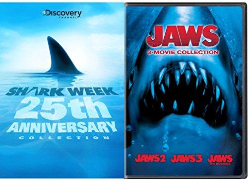 Jaws 3-Movie Collection & Shark Week: 25th Anniversary DVD Horror Movie Set