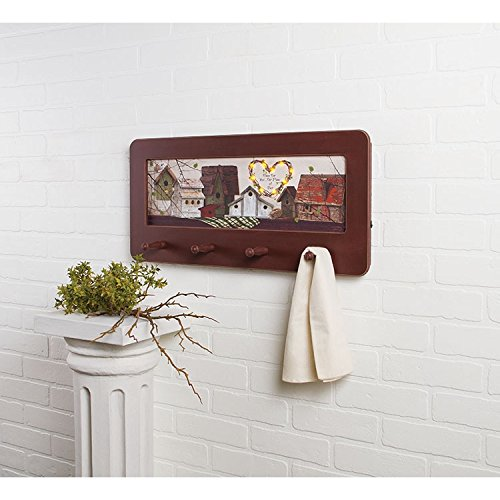 Lighted Nest Blessing Peg Rack by Heart of America