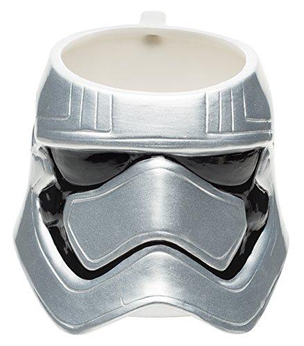 (Zak Designs Star Wars Ep7 Captain Phasma Unique 3D Character Sculpted Ceramic Coffee Mug, Collectible Keepsake and Wonderful Tea Mug for Christmas or Birthday Gift (15 oz, Captain Phasma, BPA Free))