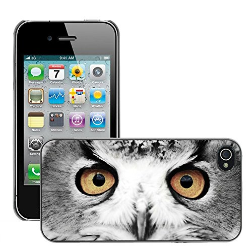 Premio Sottile Slim Cassa Custodia Case Cover Shell // V00002165 Yeux Wise // Apple iPhone 4 4S 4G