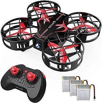 Opinión sobre SNAPTAIN H823H Plus Mini Drone para Niños, Dron con 3 Baterías, 21 Minutos de Tiempo de Vuelo - Mini Helicóptero Quadcopter por Control Remoto, Modo sin Cabeza, Volteos 3D, 3 Modos de Velocidad