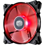 "Cooler Master JetFlo Fan Red ""R4-JFDP-20PR-R1, PWM 120mm, Red LED, 2000RPM, POM Bearing"""