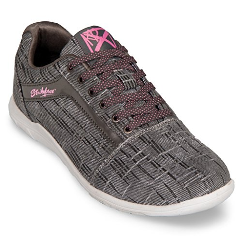KR Strikeforce Womens Nova Lite Bowling Shoes- Ash/Hot Pink (8 M US, Ash/Hot Pink)
