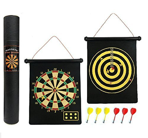 Cotechs Reversible Magnetic Dartboard - Gift Boxed, Easy to Roll Up and Store with Darts Generic DartSet