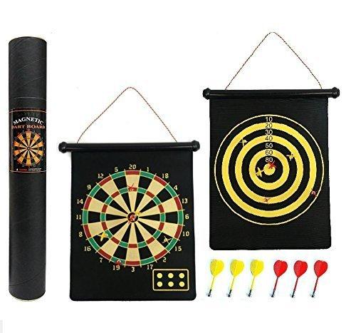 Cotechs réversible magnétique Cible de fléchettes–Boîte Cadeau, Facile à Rouleau et à Ranger avec Fléchettes Generic DartSet